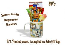 Dangermouse 'Characters' Mug jammed with/without a teatime selection of 80's themed sweets.